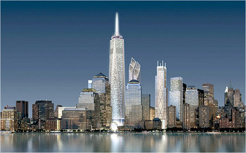 New buildings at the WTC site