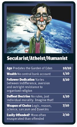 New Humanist God Trumps - Humanist