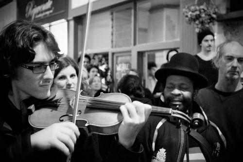 Violin Dude - Original B/W
