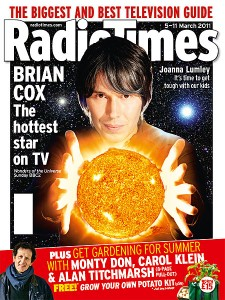 Brian Cox on the Radio Times front cover